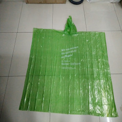PLA degradable rain poncho