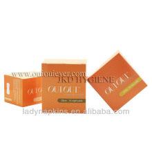 Serviette hygiénique orange de saveur d'orange pour l'usage de jour
