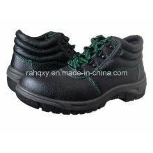 Gute Qualität halbhoher grüne Nähte Sicherheitsschuhe (HQ602)