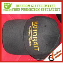 Stickerei-Logo-Baumwollmaterial-kundenspezifische Baseballmütze