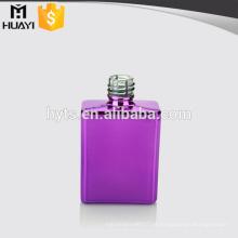 frasco de esmalte de vidro barato colorido quadrado roxo uv