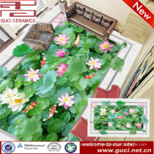 china manufacture 3d lotus printing vitrified porcelain floor and wall tile