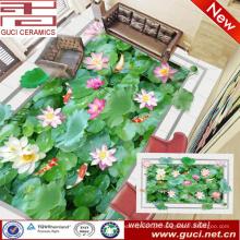 China fabricação 3d lótus impressão vitrificada porcelana piso e parede da telha