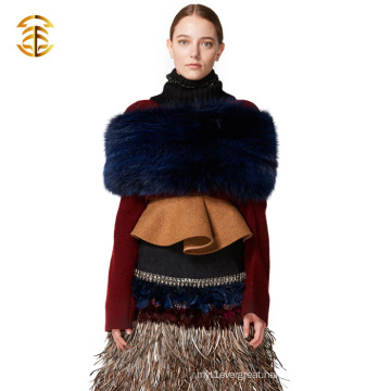Fashion Genuine Real Fox Fur Snood Scarf For Girl and Women