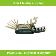 15 in 1 Folding Multi-Function Bicycle Bike Allen Key Repair Tool