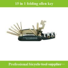 15 в 1 Складной многофункциональный инструмент для ремонта ключей Allen Key Bike Bike