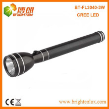 Factory Supply Best 3w Power Style Cree Heavy Duty Rechargeable Flashlight Torch Light with Nicd 3C Battery