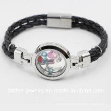 Nova chegada pulseira de jóias de traje de aço inoxidável com medalhão