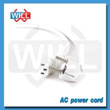 VDE ROHS Veste en PVC blanc câble d'extension électrique européen