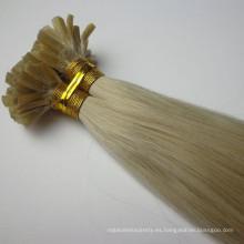 Pelo humano indio de la Virgen extensión del pelo de la extremidad de 24 pulgadas U