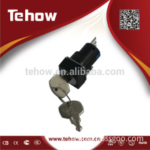 Miniature rotary selector switch with key