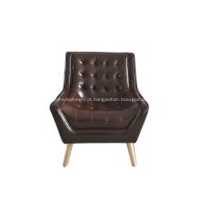 Cadeira de braço de desenhador de couro confortável