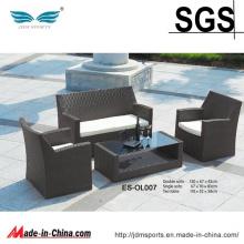 Sofá confortável da mobília do Rattan do pátio do tipo novo ajustado (ES-OL007)