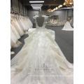 Großhandelsneuheiten herrliche Rüsche-Stickerei entwirft 2018 WT288 Hochzeits-Kleid