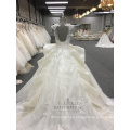 Wholesale New arrivals Gorgeous Ruffle Embroidery Designs 2018 WT288 Wedding Dress