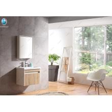 24 '' Small Size Design moderno simples Eco-Friendly Vanity Base Wooden Tiny House Vanity do banheiro