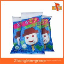 China fábrica de hielo lolly bolsa de embalaje para el helado de hielo o helado