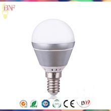 Ampoule industrielle d'aluminium de 4W / 6W argent G45 LED usine avec Daylight E14