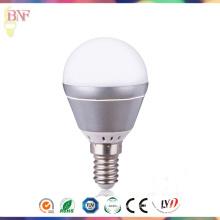 Lâmpada industrial da fábrica do diodo emissor de luz do alumínio da prata 4W / 6W G45 com luz do dia E14