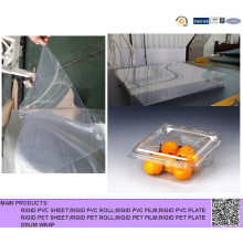 Rigide Clear Pet Sheet Rolls für Kunststoff Ei Tray