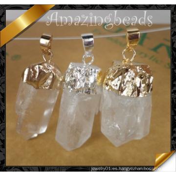 Colgante de la manera, piedra de cuarzo cristalino Colgante de plata de Witih (YAD001)