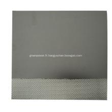 Feuille de graphite avec insert de feuille galvanisé