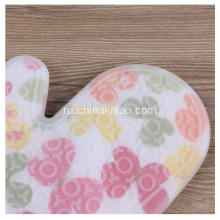 Euro Kitchen Cotton Flower Pattern Silicone Gloves