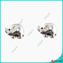 Tamaño exterior 10mm Elephant Metal Charm para hacer pulseras (JP08)