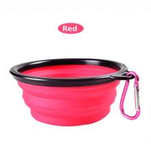 Collapsible Silicone Portable Dog Cat Pet Food Water Feeding Bowl Container For Travel