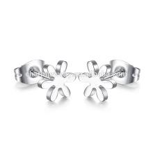 Fashion Design Jóias Flor Titanium Stud Earrings para as Mulheres ZZE014
