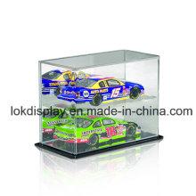 Caja de exhibición de acrílico de 2 capas, caja plástica, caja de almacenaje de los coches