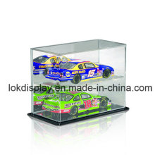 Caixa de exibição acrílica de 2 níveis, caixa de plástico, caixa de armazenamento de carros