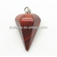 6 Pendentif en pierre rouge semi-pierre en forme de cône