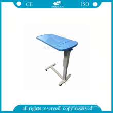 AG-OBT003B adjustable ABS hospital over bed table with gas spring