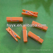 Orange Plastic Cloth Clip