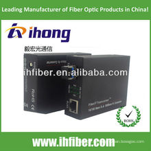 10 / 100M Fibra Óptica Media Converter único modo de fibra dual puerto LC 20 km