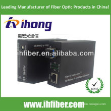 10 / 100M Convertisseur de fibre optique Convertisseur monophasé double fibre LC port 20 km