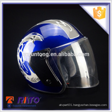 Wear-resisting stylish full-face blue ABS motorcycle helmet