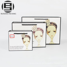 Wovem cosmetic packing kraft paper bags printed