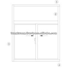 ALUMINIUM SLIDING WINDOW - TK880