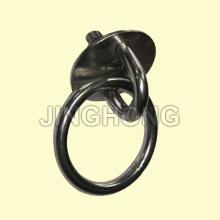 SS: Plaque ronde avec vis d'oeil et l'anneau