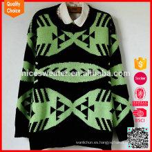 El suéter jacquard de las mujeres hizo punto la ropa al por mayor mexico