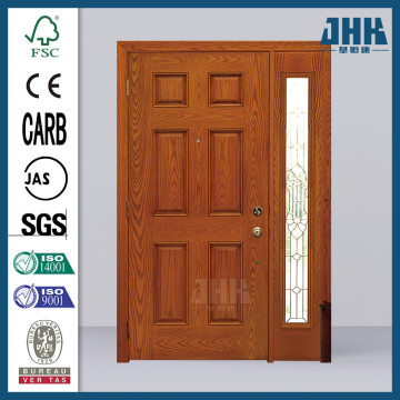 JHK Office Fiberglass Partition Inserts Glass Interior Door