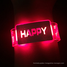 2016 New led Happy Light Bracelet with battery