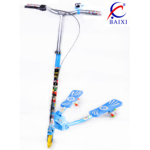 Scooter des enfants avec roue clignotante en PU (BX-WS001)