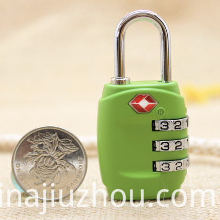 Portable Padlock Tsa Zinc Alloy Resettable Lock