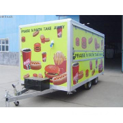 Biaxial dining car trailer,,outdoor kitchen truck,dining truck,food tr