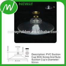 Copa de succión de PVC de 50 mm con tornillo y tuercas de 4,0 mm