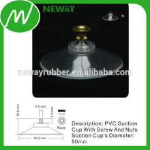 50mm PVC Suction Cup with 4.0MM Screw and Nuts