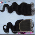 Hot Selling Unprocessed Brazilian Virgin Human Hair Swiss Lace Top Closure 4*4 inch Fast Shipping